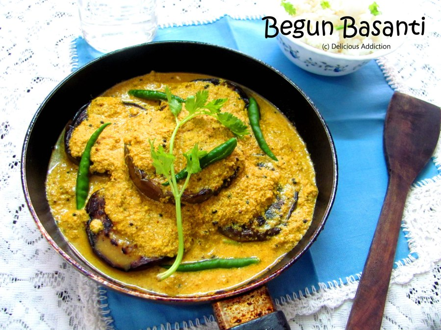 Begun Basanti (Eggplant in Yogurt-MustardSauce)
