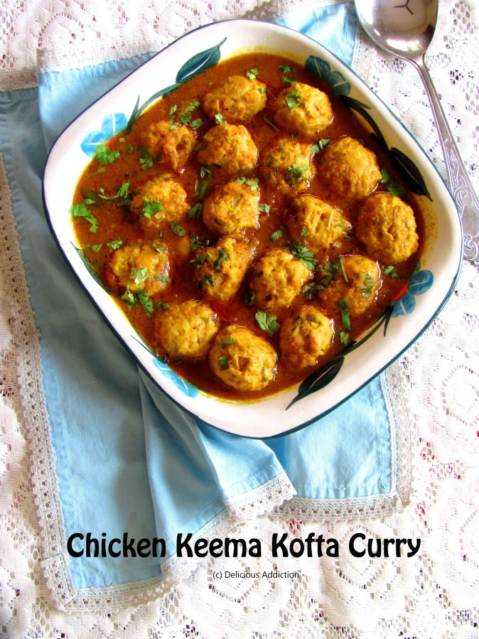 Chicken Keema Kofta Curry (Chicken Meat Ball Curry with Indian Spices)