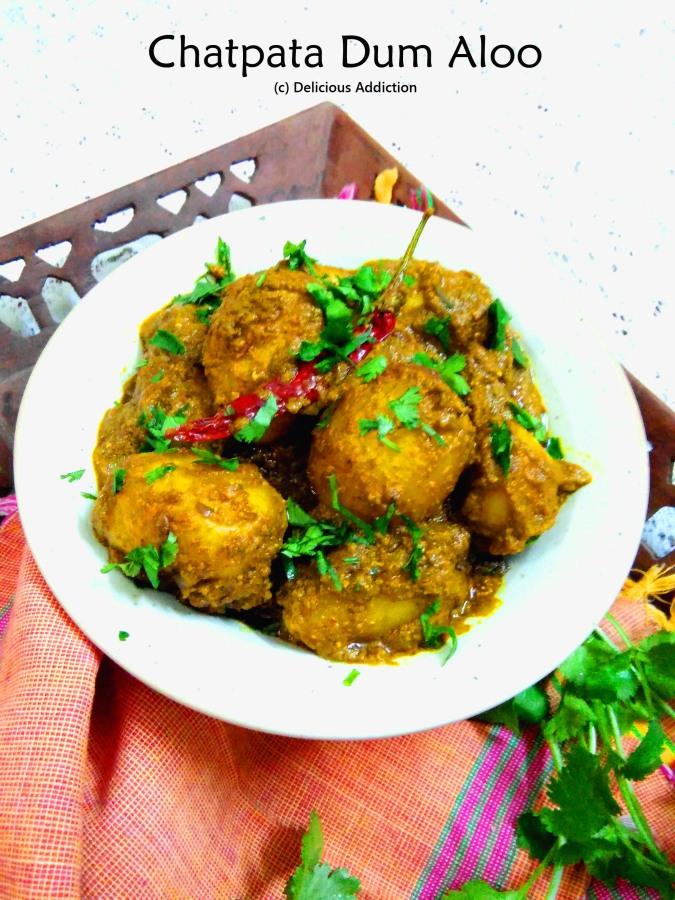 Chatpata Dum Aloo (Potatoes in Slightly TangySauce)