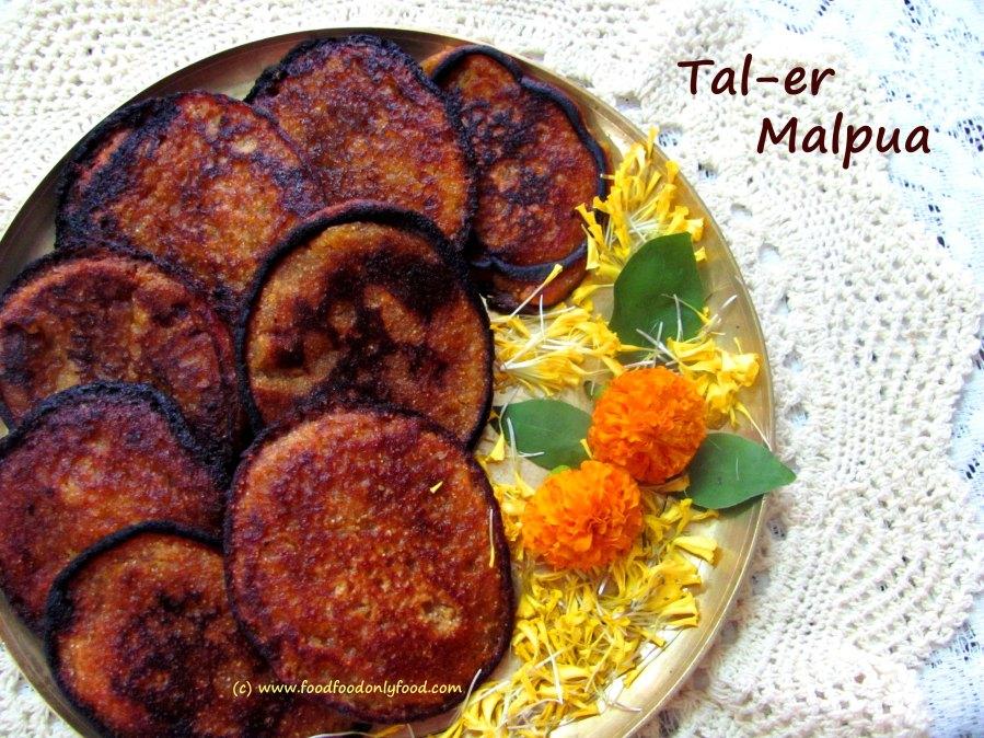 Tal er Malpua (Indian Sweet Pancake with Asian Palm Fruit &Jaggery)