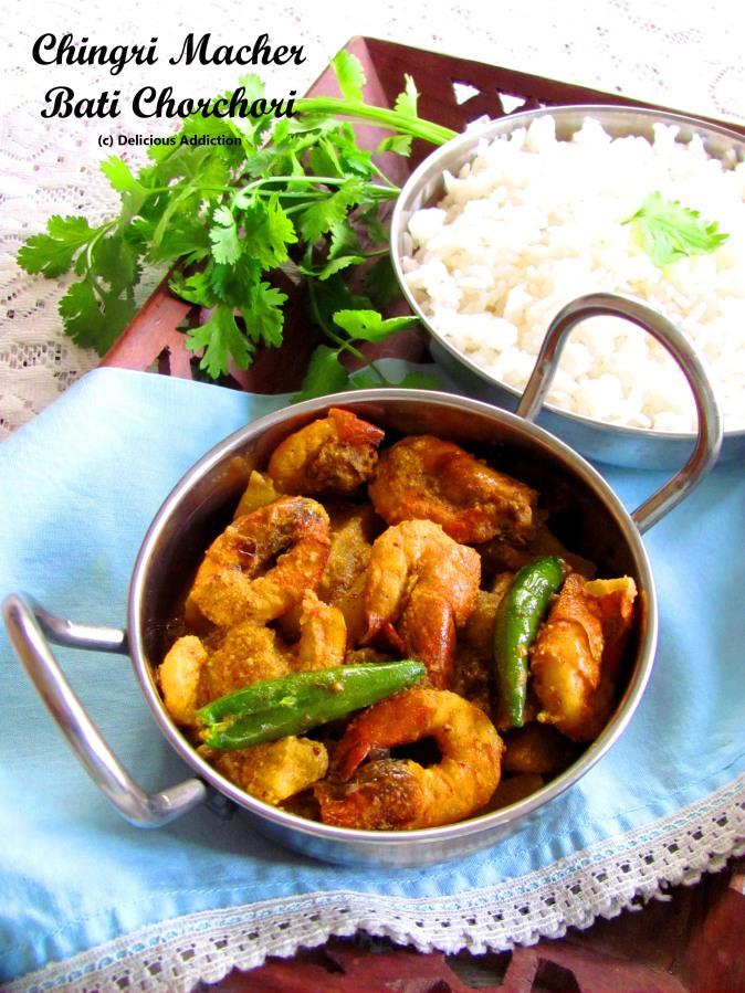 Chingri Macher Bati Chorchori (Spicy ShrimpCurry)