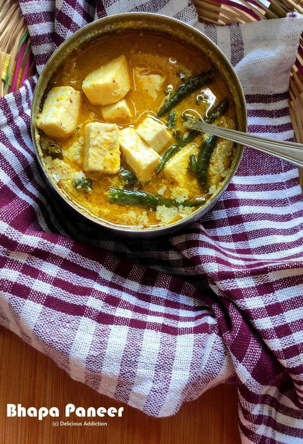Bhapa Paneer (Steamed Cottage Cheese Curry)