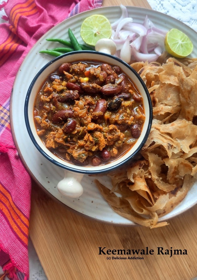 Keemawale Rajma (Kidney Beans Curry with Minced Mutton)