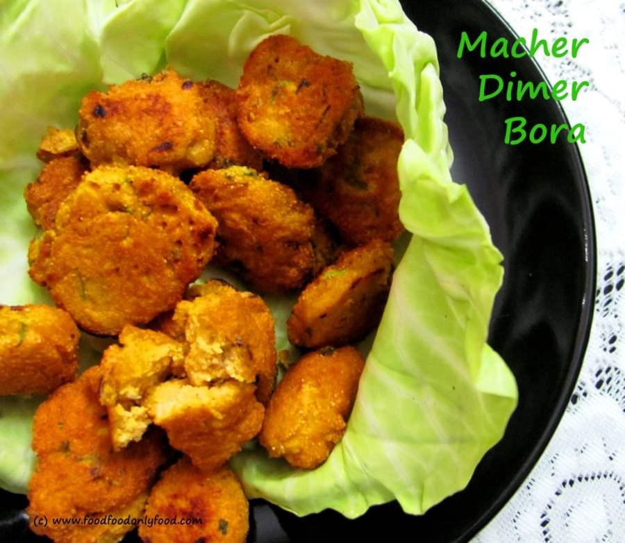 Macher Dimer Bora (Fish EggFritters)