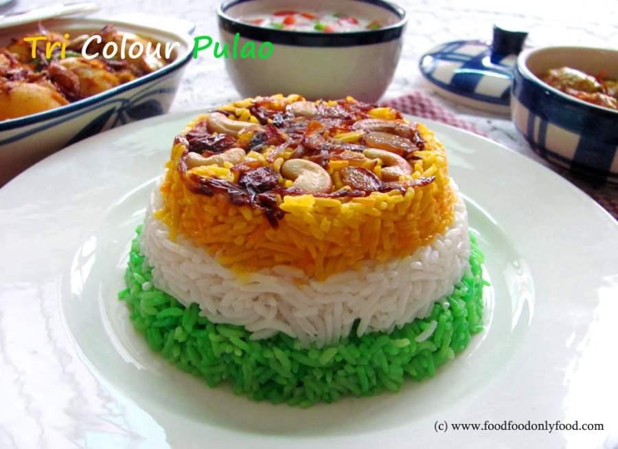 Tiranga Pulao/Tri Colour Pulao (Tri ColourPilaf)