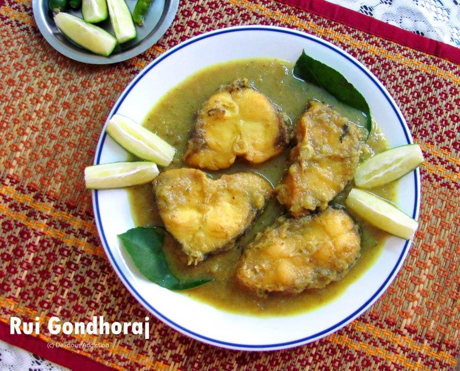 Rui Gondhoraj (King Lemon Infused Rohu FishCurry)