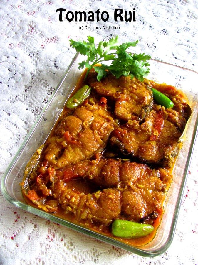 Tomato Rui (Rohu Fish Curry in Thick TomatoGravy)