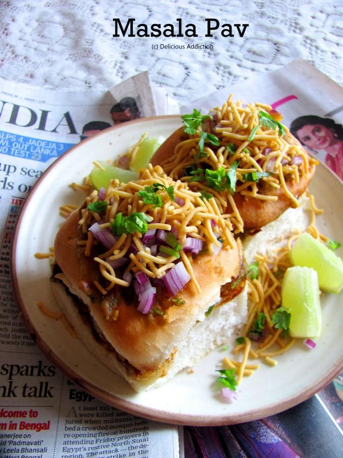 Masala Pav (Spicy Stuffed VeggiesBun)
