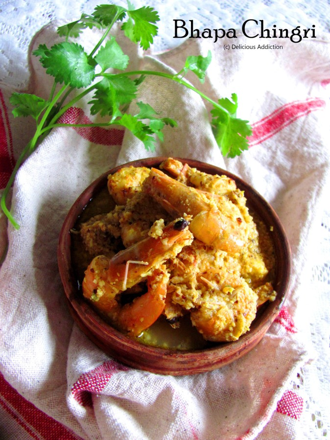 Bhapa Chingri (Steamed Prawn Curry in Mustard and CoconutGravy)