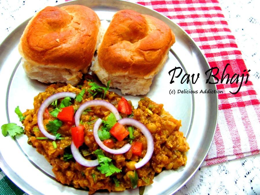 Pav Bhaji (Spicy and Tangy Veggies withBun)