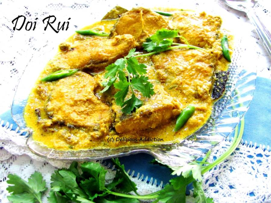 Doi Rui (Rohu Fish in Yogurt Based Gravy)