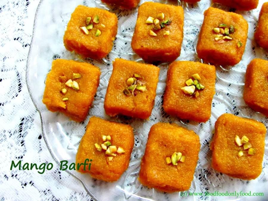 Mango Barfi (MangoFudge)