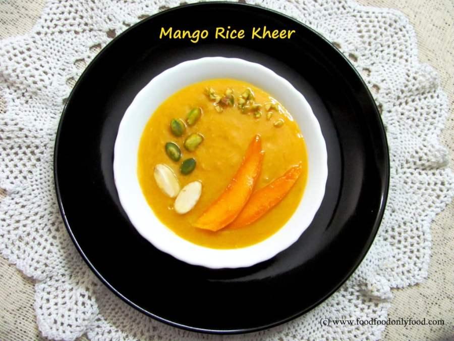 Mango Rice Kheer (Indian Style Mango RicePudding)