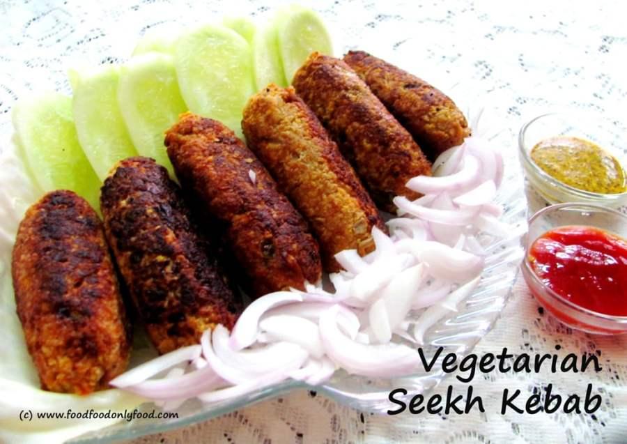 Vegetarian Seekh Kebab