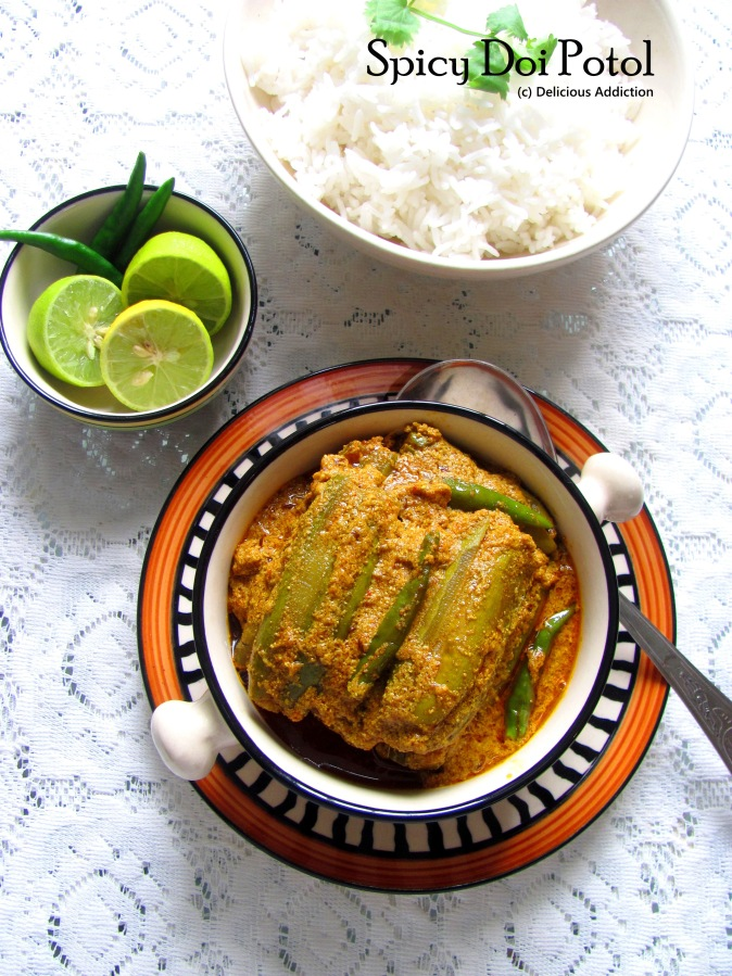 Spicy Doi Potol (Spicy Pointed Gourd Curry)