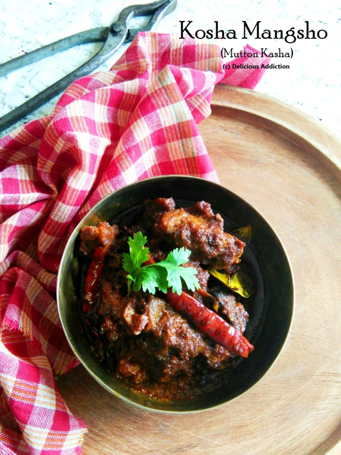Kosha Mangsho or Mutton Kasha (Spicy Dry Mutton Curry)