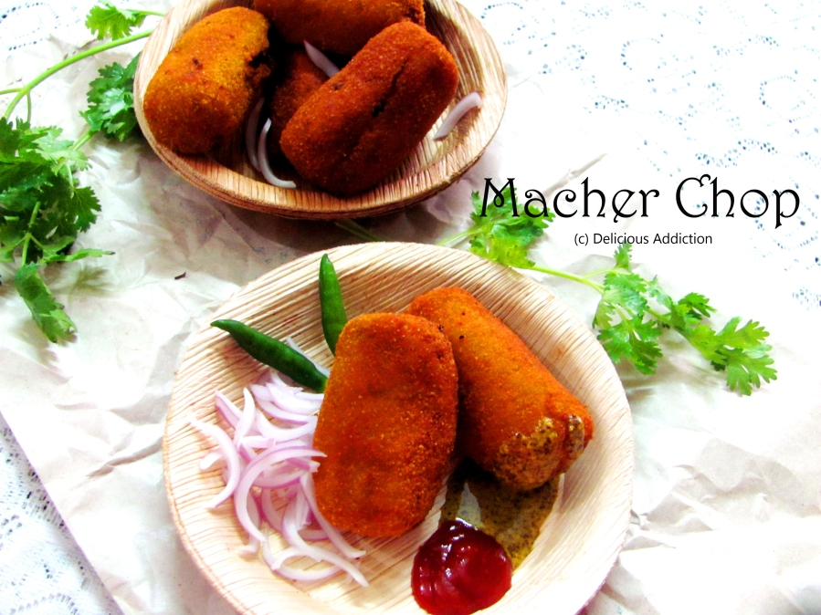 Macher Chop or Fish Chop (Bengali Style Fish Croquettes)