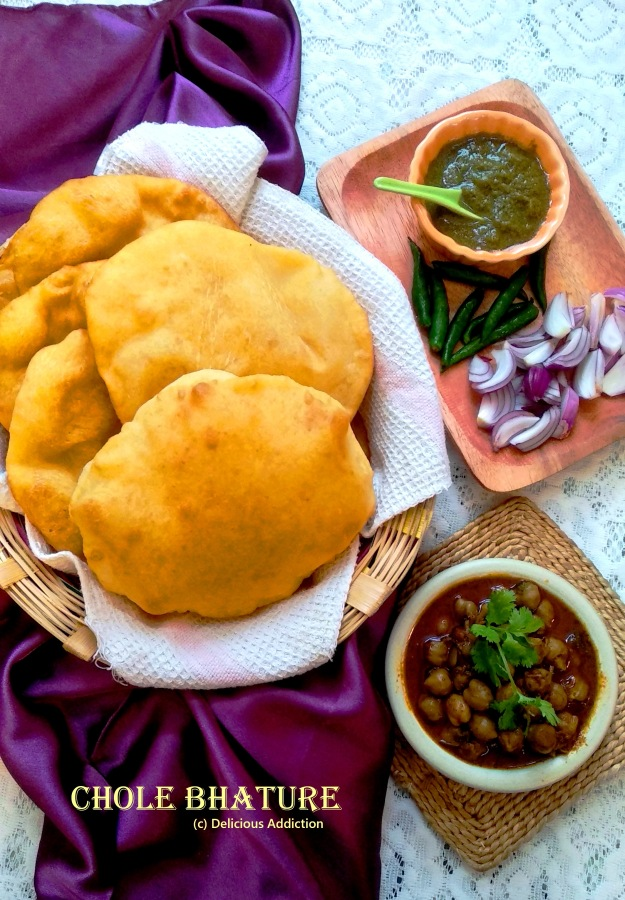 Chole Bhature (Spicy Chick Pea Curry with Fried Bread)