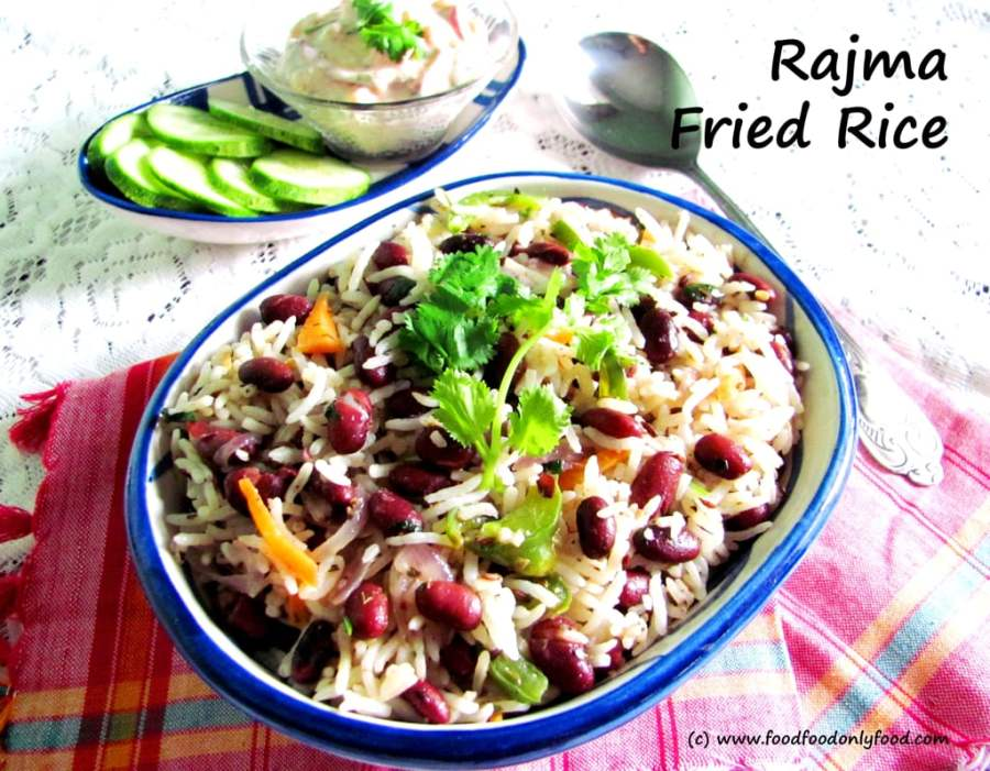 Rajma Fried Rice (Fried Rice with Red Kidney Beans)