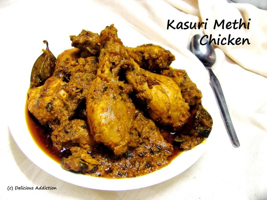 Kasuri Methi Murg / Kasuri Methi Chicken (Chicken Curry with Dry FenugreekLeaves)