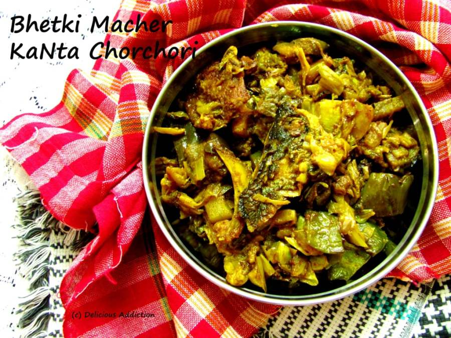 Bhetki Macher KaNta Chorchori (Mix-Vegetable Mishmash with Barramundi Fish Head & Bones)