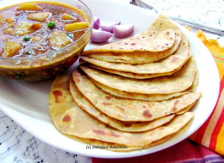 Image result for roti with sabji