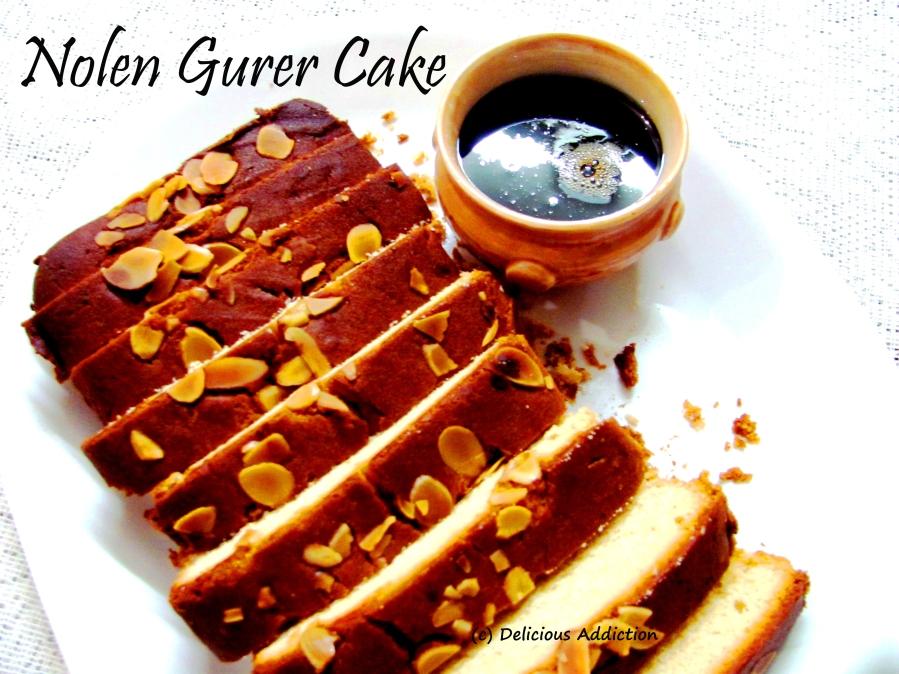 Nolen Gurer Cake (Date Palm JaggeryCake)
