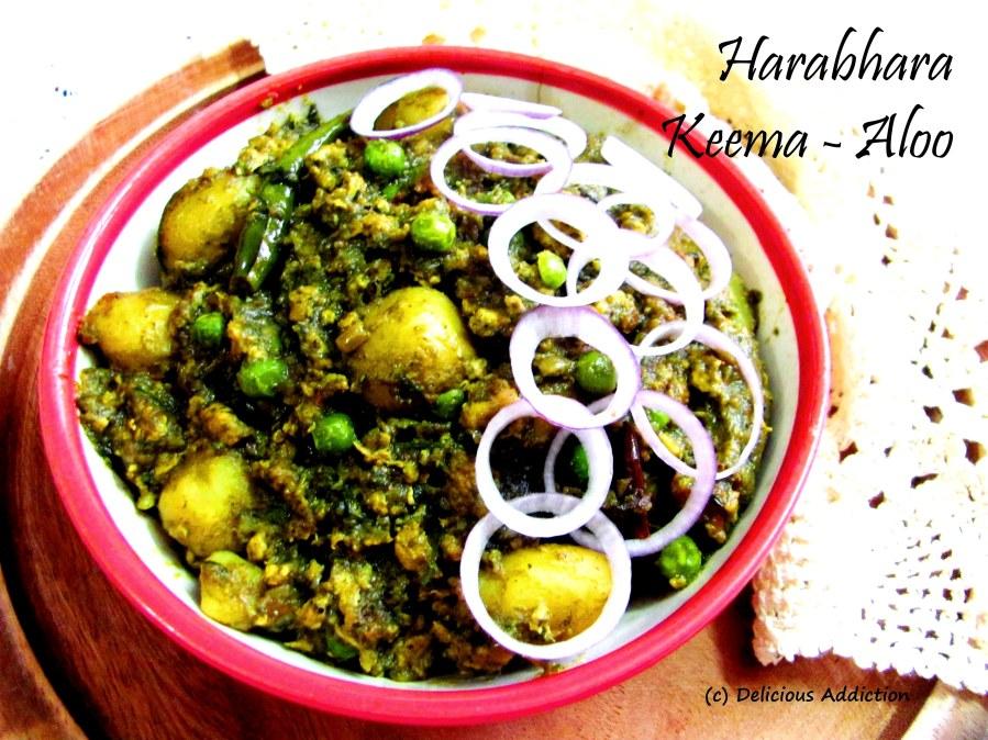 Harabhara Keema Aloo (Spicy Minced Meat Curry withGreens)