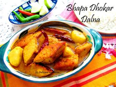 Bhapa Dhokar Dalna (Steamed Lentil Fritters with Gravy