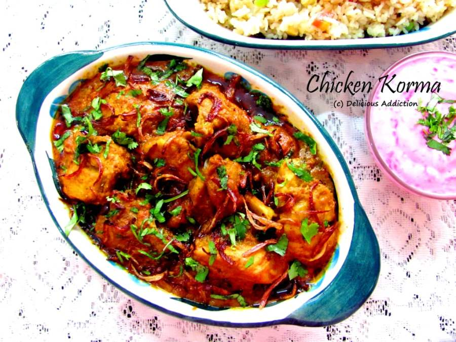 Chicken korma chicken curry with rich gravy delicious addiction chicken korma chicken curry with rich gravy forumfinder Choice Image