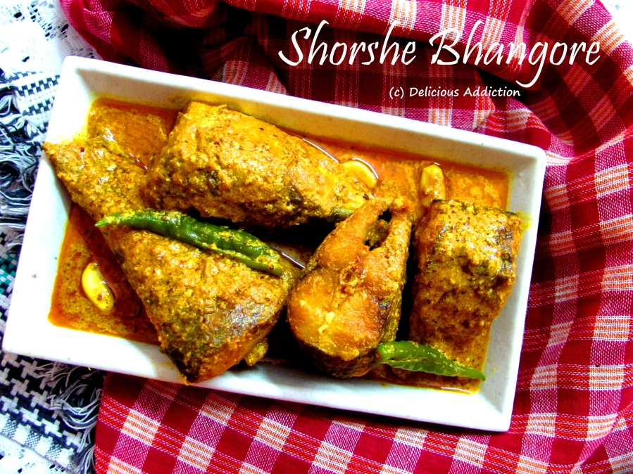 Shorshe Bhangore (Grey Mullet with Mustard Paste)