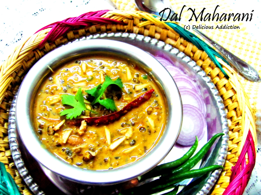 Dal Maharani (Creamy Whole Black Gram & Red kidney Bean Preparation)