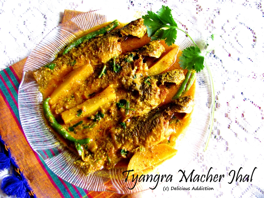 Tyangra Macher Jhal (Spicy Cat Fish Curry)