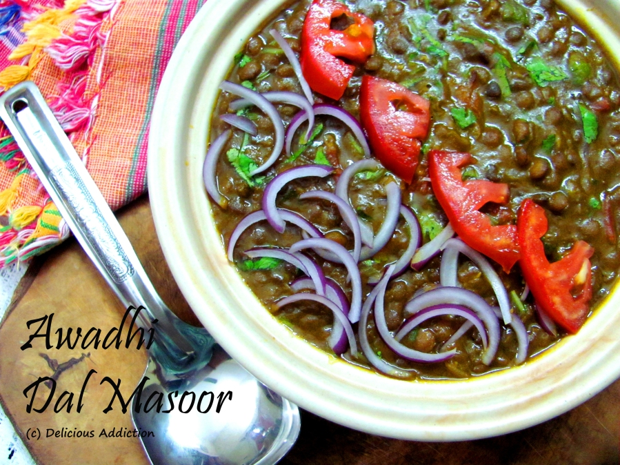 Awadhi Style Dal Masoor (Spicy Whole Lentil)