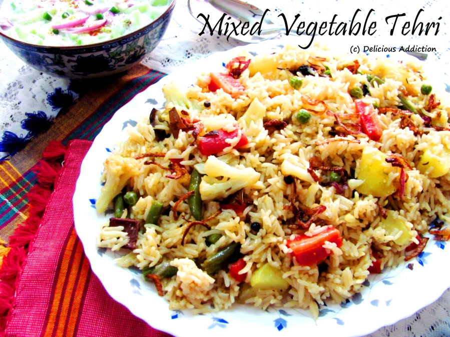 Mixed Vegetable Tehri (One Pot Rice Preparation with Seasonal Vegetables)