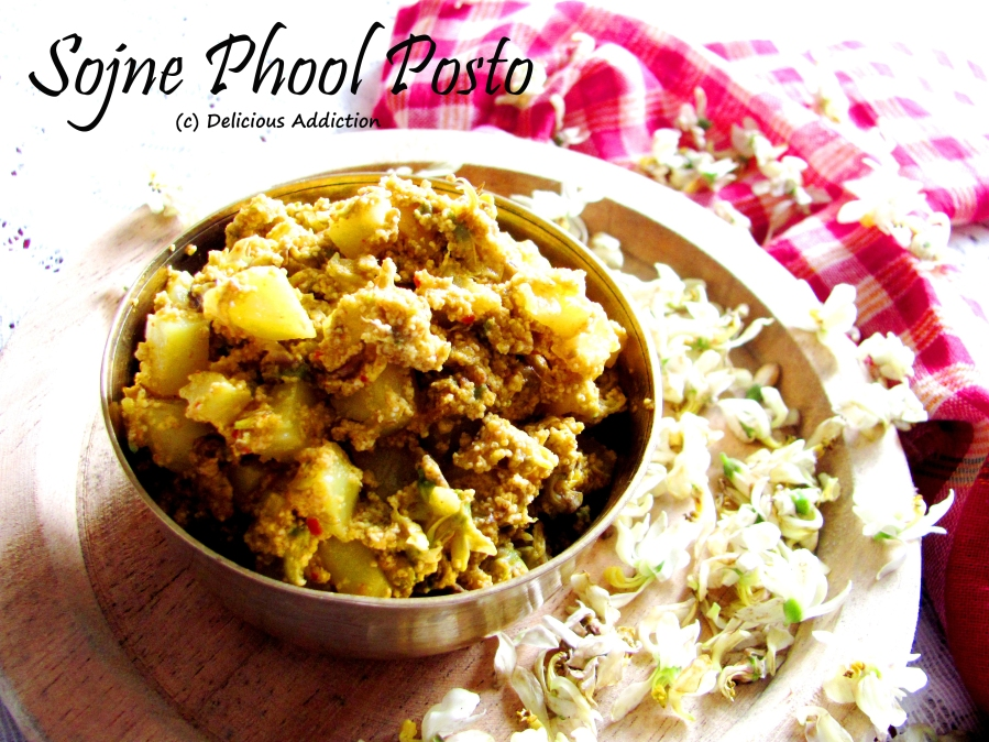 Sojne Phool Posto (Drumstick Blossoms Cooked with Poppy SeedPaste)