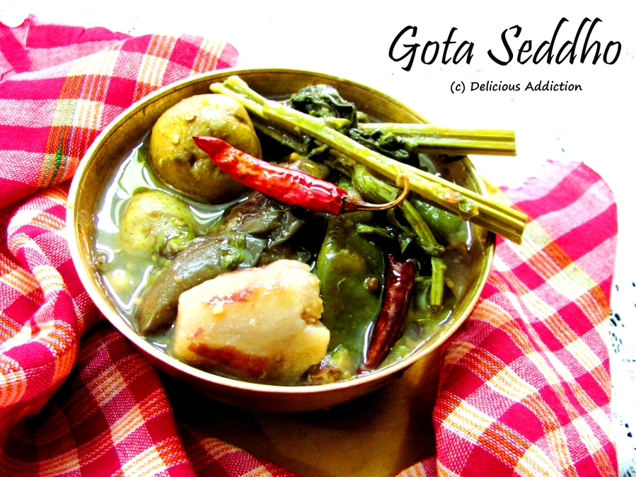 Gota Seddho (Whole Vegetables Cooked with Pulses)