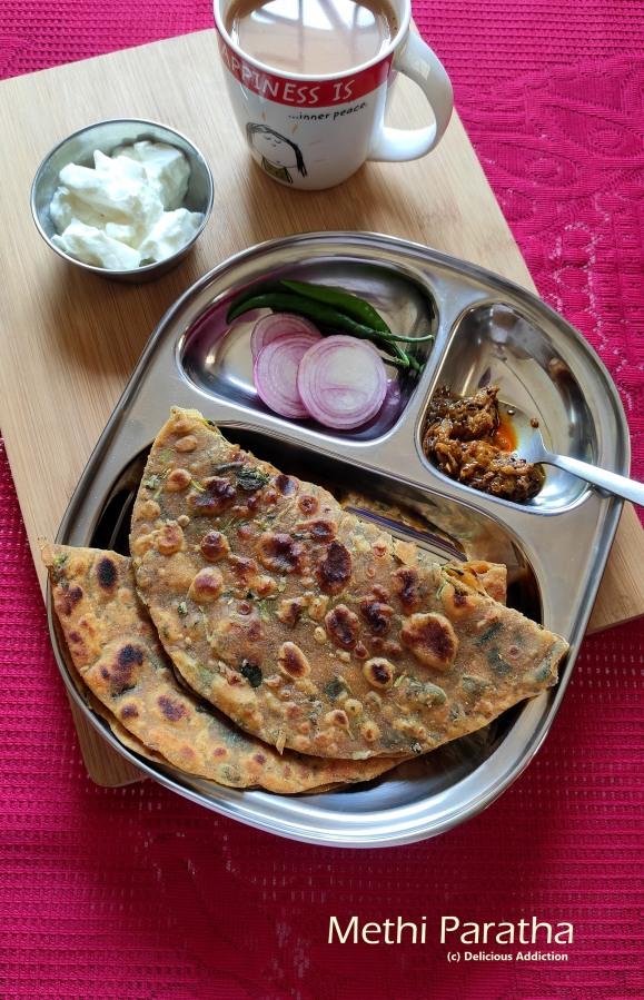 Methi Paratha (Indian Flat Bread with FenugreekLeaves)