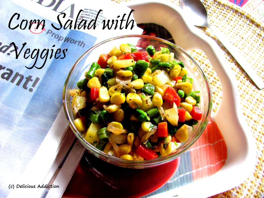 Corn Salad with Veggies