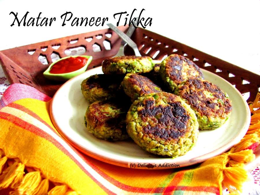 Matar – Paneer Tikka (Indian Cottage Cheese and Green PeasPatty)