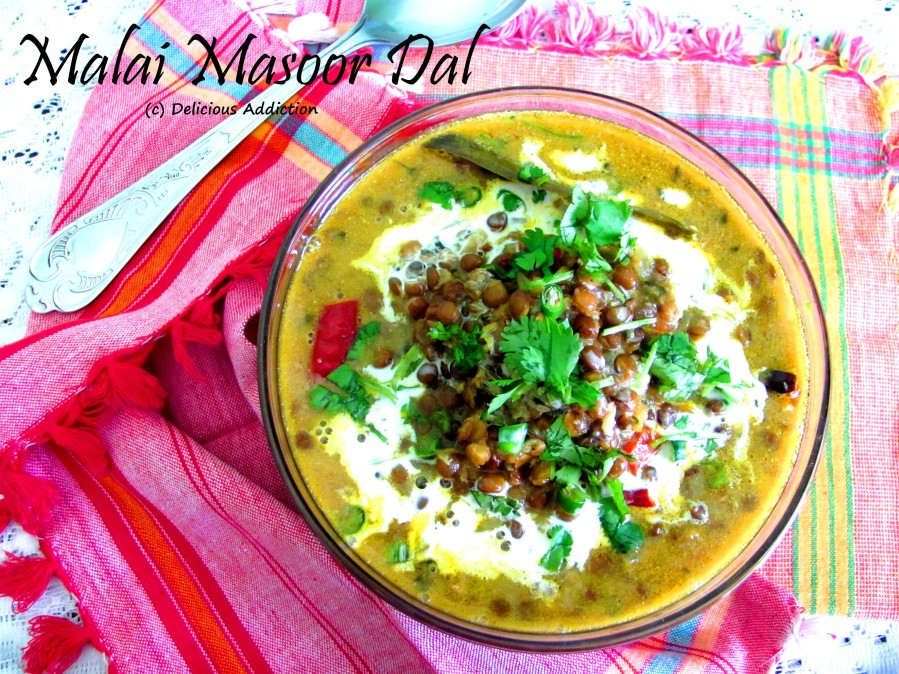 Malai Masoor Dal (Creamy Whole Red Lentil)