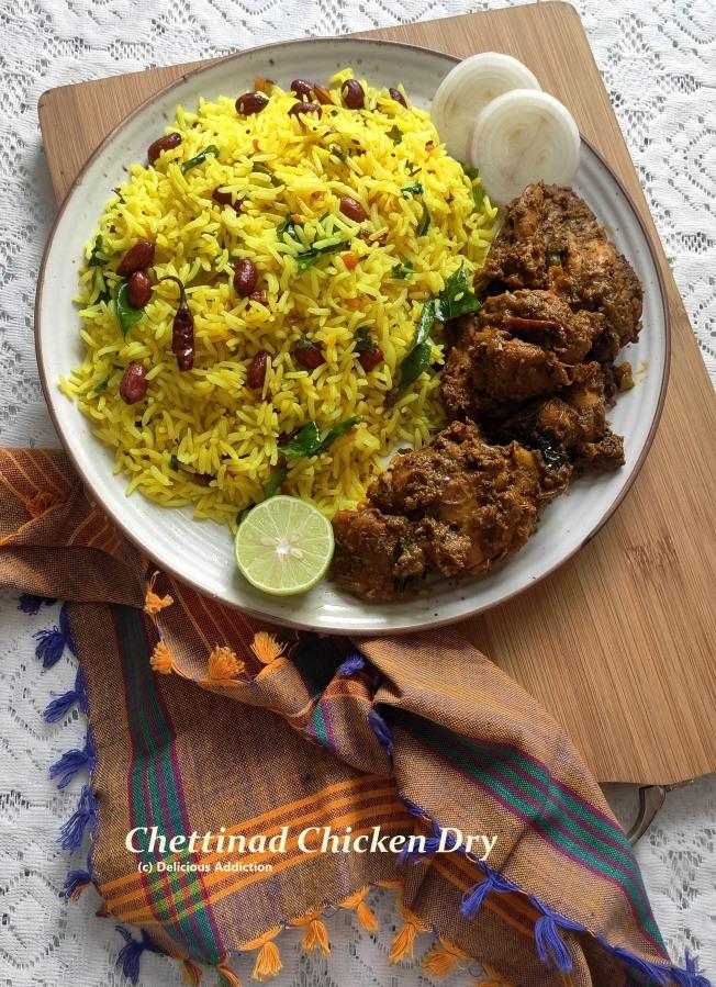 Chettinad Chicken Dry (South Indian StyleChicken)