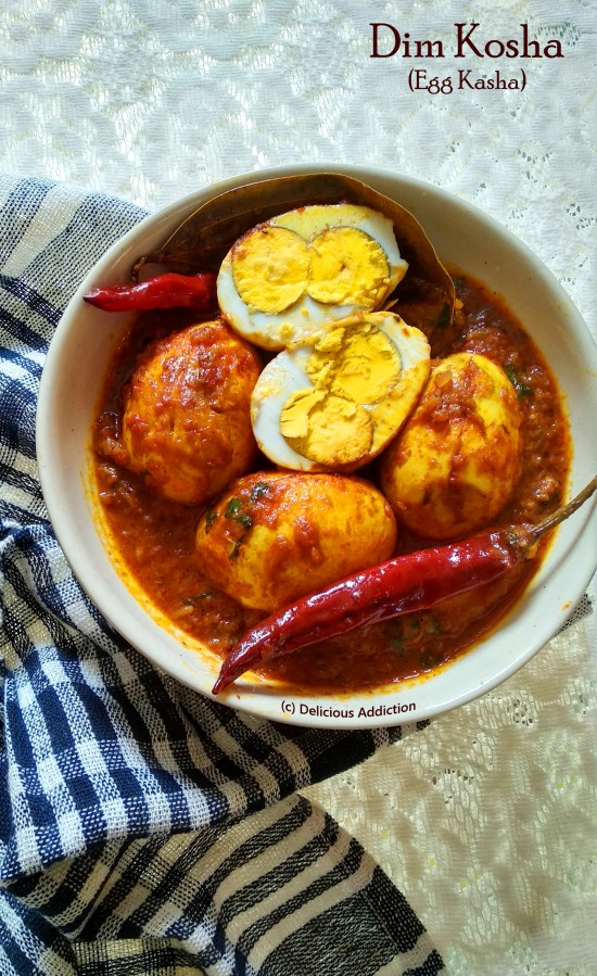 Dim Kosha / Egg Kasha (Spicy Egg Curry)