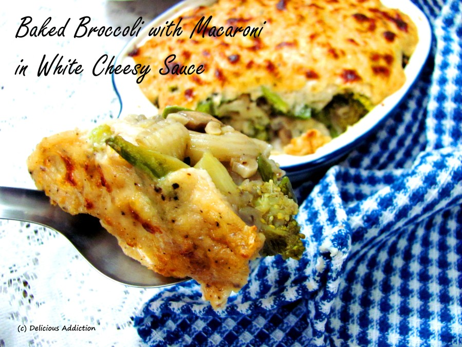 Baked Broccoli in White Sauce withMacaroni