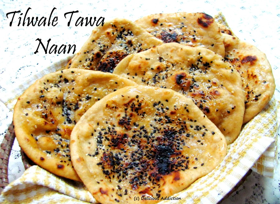 Tilwale Tawa Naan (Indian Flat Bread with SesameSeeds)