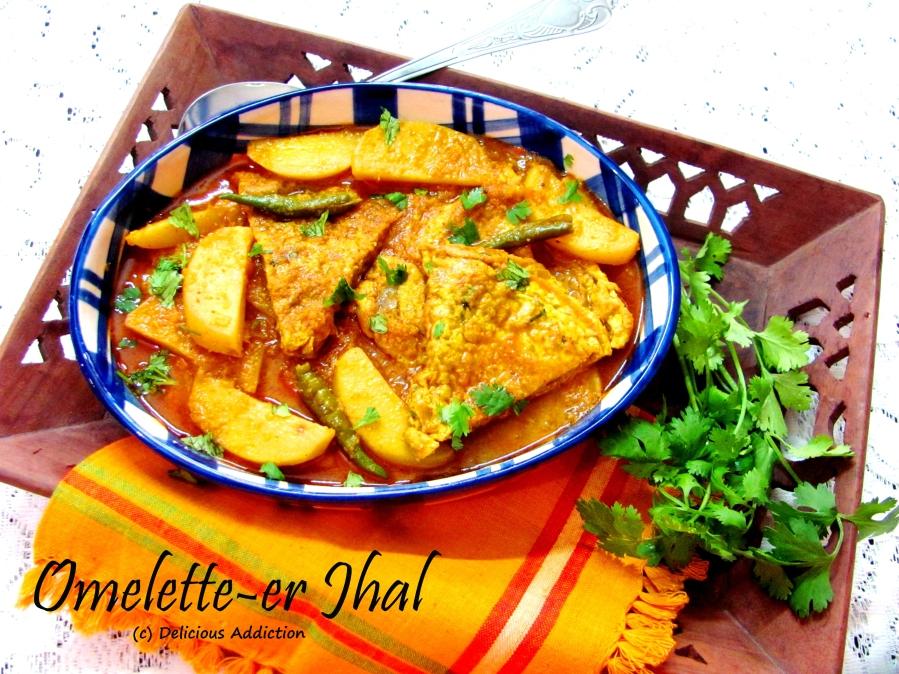 Omelette er Jhal (Bengali Style Omelettes inGravy)