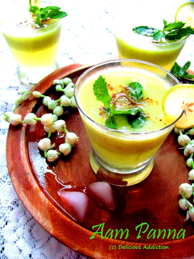 Aam Panna or Aam Porar Shorbot (Roasted Green Mango Drink)