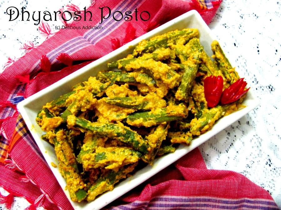 Dhyarosh Posto (Okra with Poppy SeedPaste)