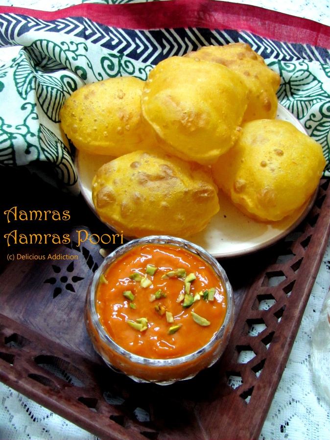 Aamras & Aamras Poori (Indian Fried Bread with Mango Pulp)