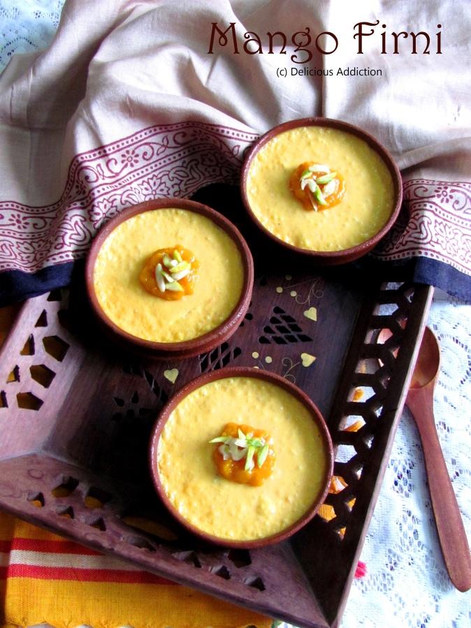 Mango Firni (Mango Flavoured TraditionalDessert)